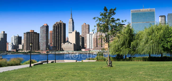 Malerische Aussicht auf Manhattan Skyline, New York, Amerika, Usa — Stockfoto