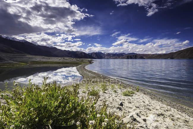 Живописный вид на величественный пейзаж в гималаях — стоковое фото