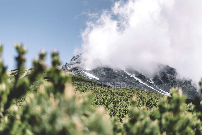 Scenic view of Clouds over Tatras mountains, Slovakia — Stock Photo