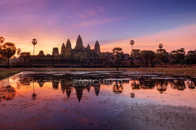 Scenic view of Sunrise over Angkor Wat, Siem Reap, Cambodia — Stock Photo