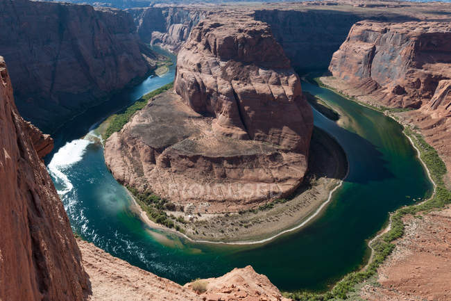 Vue panoramique de Horseshoe Bend, Page, Arizona, Amérique, Usa — Photo de stock