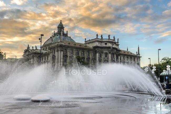 Vista panorâmica do Palácio da Justiça, Munique, Alemanha — Fotografia de Stock