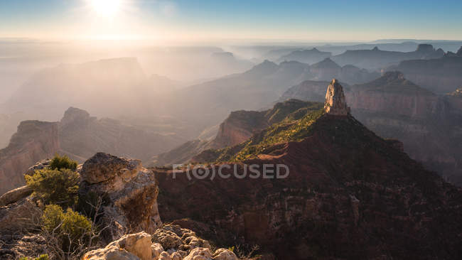 Nascer do sol sobre Point Imperial, Grand Canyon, Arizona, América, EUA — Fotografia de Stock