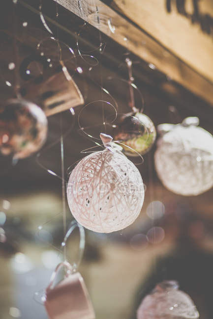 Closeup view of Festive christmas decorations — Stock Photo
