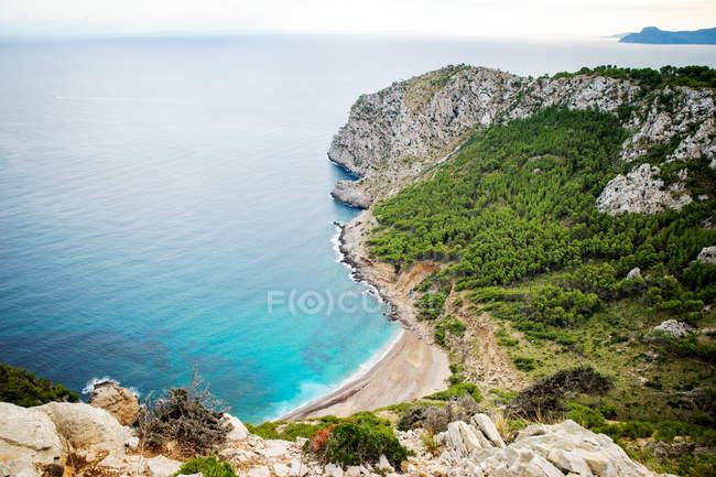Vue aérienne de la plage près de Alcudia, Majorque, Espagne — Photo de stock