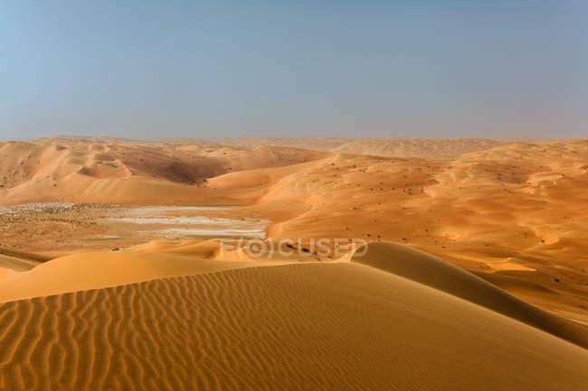 Vista panoramica delle dune di sabbia, deserto Arabico, Arabia Saudita — Foto stock