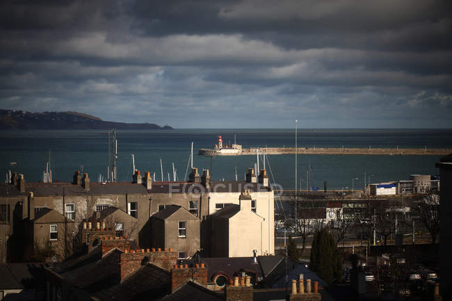 Scenic town view, Dun Laoghaire, Dublin, Ireland — Stock Photo