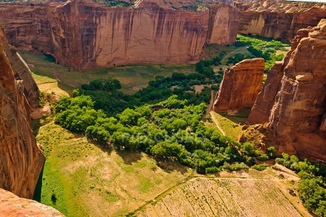 Canyon De Chelly vista da borda sul, Arizona, América, EUA — Fotografia de Stock