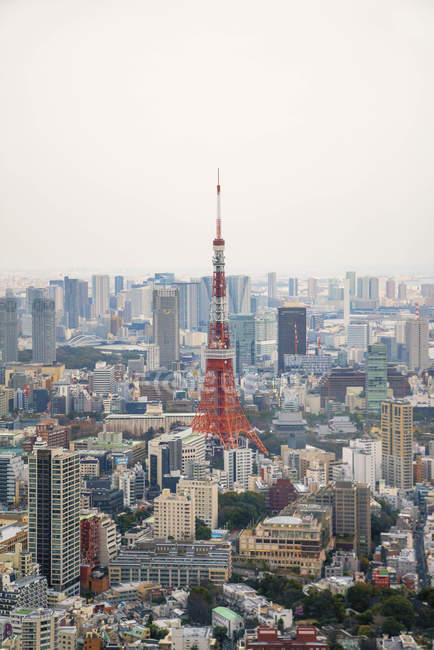 Scenic view of tokyo tower cityscape, tokyo, japan — Photo de stock