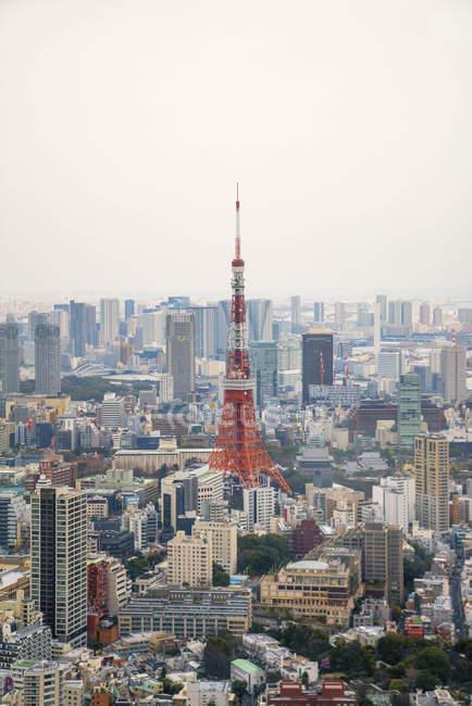 Vista panoramica di tokyo torre paesaggio urbano, tokyo, Giappone — Foto stock