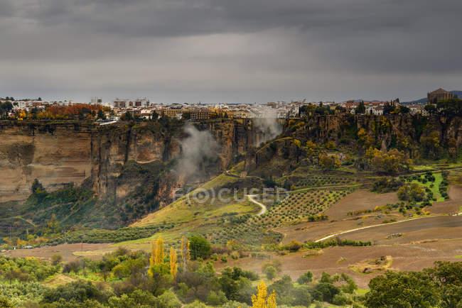 Vista panorámica de la ciudad de Ronda, Málaga, Andalucía, España - foto de stock