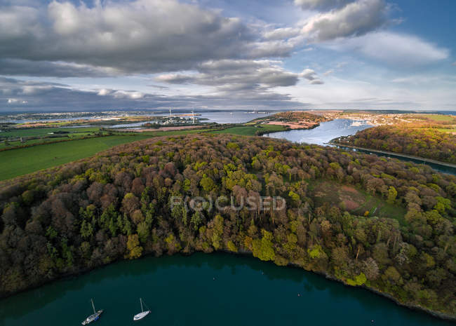 Vista panoramica sul fiume Owenabue, Crosshaven, contea di Cork, Irlanda — Foto stock