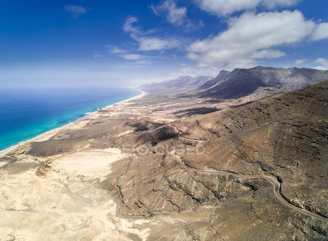 Aerial view of Jandia peninsula, Fuerteventura, Canary Islands, Spain — Stock Photo