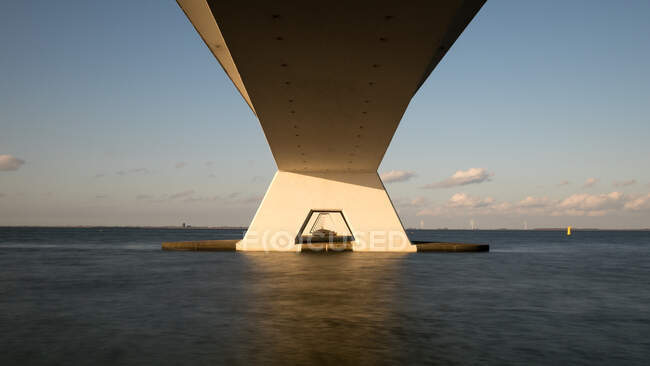 Low angle view of bridge, Kats, Zeeland, Holland — Stock Photo