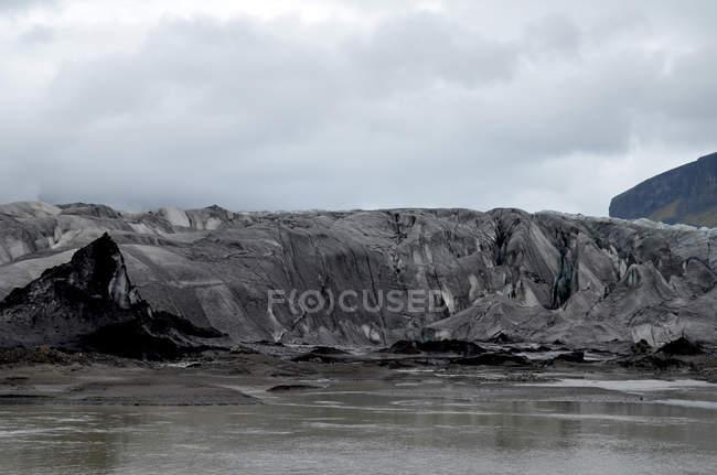 Живописный вид famousvatnajokull ледника, Исландия — стоковое фото