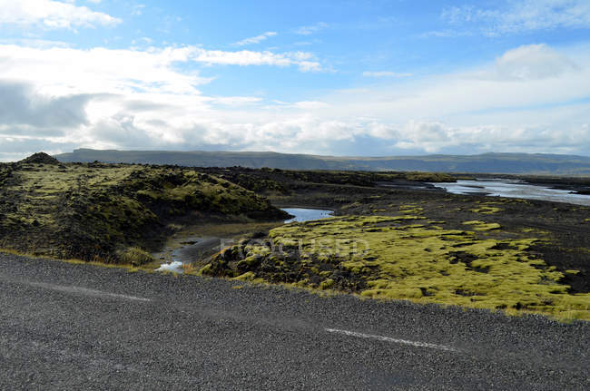 Scenic view of Traveling around Iceland — Stock Photo
