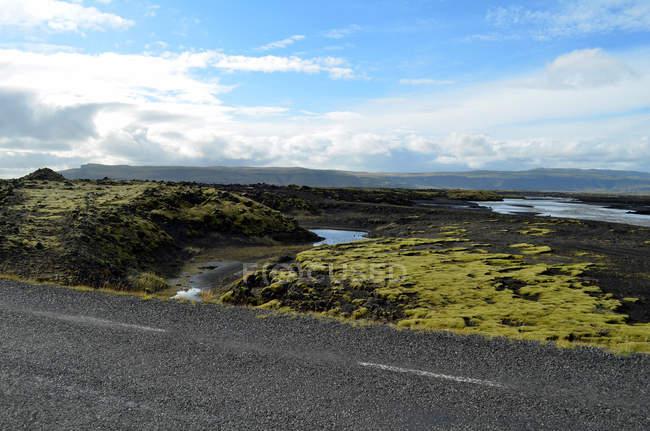 Мальовничий вид на подорож навколо Ісландії — стокове фото