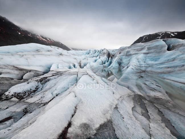 Vista panoramica del ghiacciaio Svinafellsjokull, Hornafjordur, Islanda — Foto stock