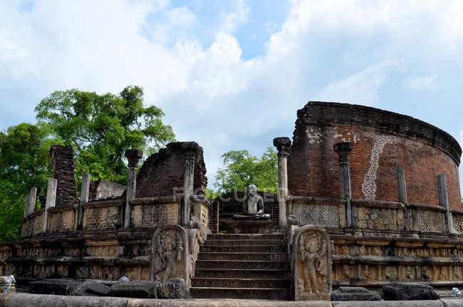 Scenic view of Polonnaruwa Vatadage, Sri Lanka — Stock Photo