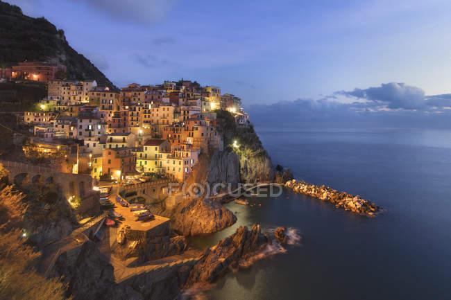 Vista panoramica su Vernazza, Cinque Terre, Liguria, Italia — Foto stock