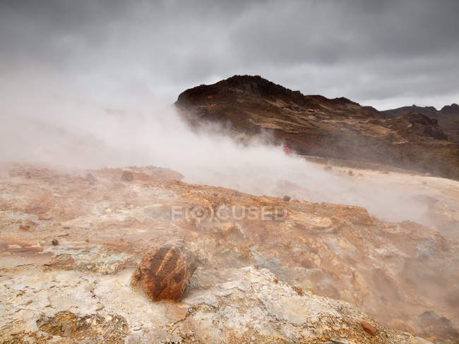 Scenic view of beautiful geothermal landscape, Reykjanes, Iceland — Stock Photo