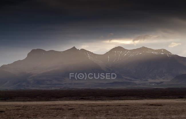 Scenic view of majestic mountain range, Iceland — Stock Photo