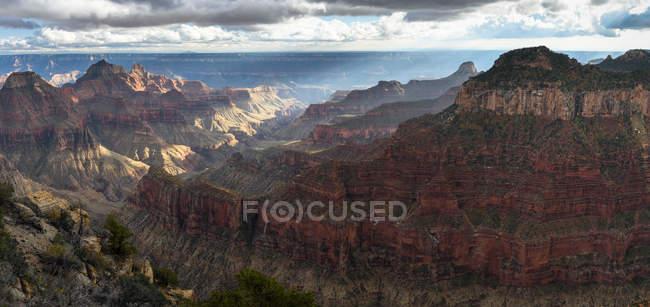 Vista panorâmica de Bright Angel Point, Grand Canyon, Arizona, América, EUA — Fotografia de Stock