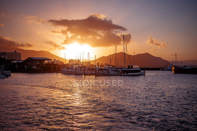 The Pier at sunset, Cairns, Queensland, Australia — Stock Photo