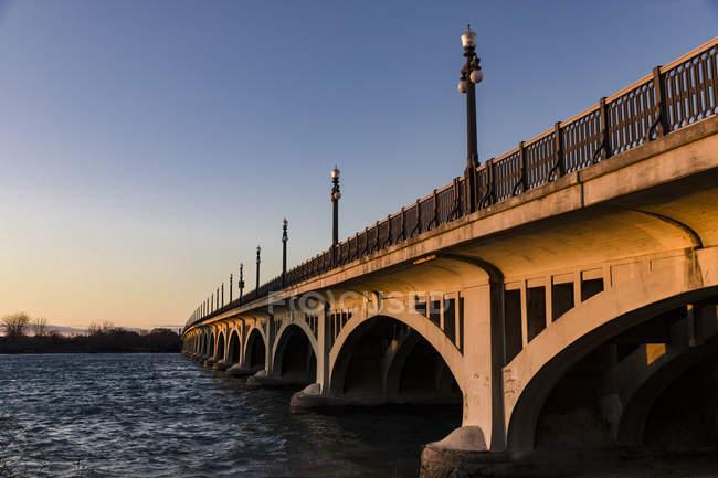 Vue panoramique de Macarthur Bridge, Detroit, Michigan, Amérique, Etats-Unis — Photo de stock
