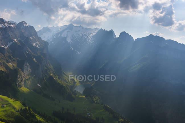 Scenic view of beautiful Alp Sigel, Switzerland — Stock Photo