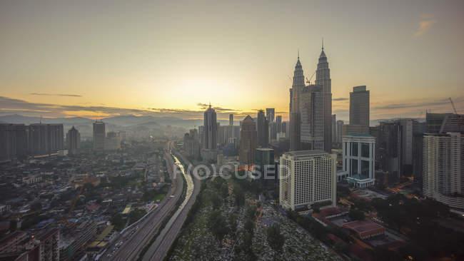 City Skyline, Kuala Lumpur, Malaysia — Stock Photo