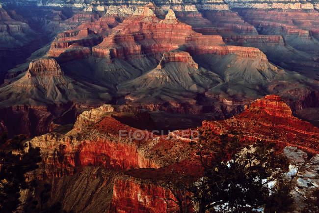 Vista panorâmica do Grand Canyon no crepúsculo, Arizona, América, EUA — Fotografia de Stock