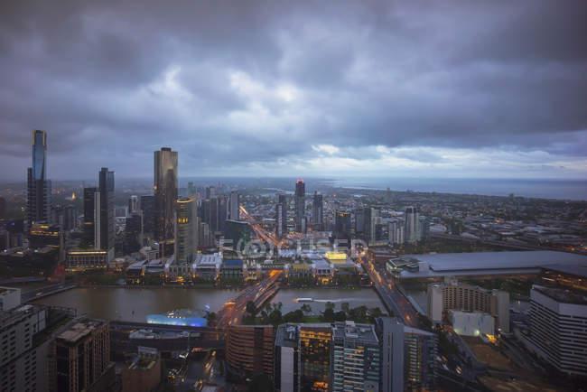 Нічний краєвид Вікторії, Австралія — стокове фото