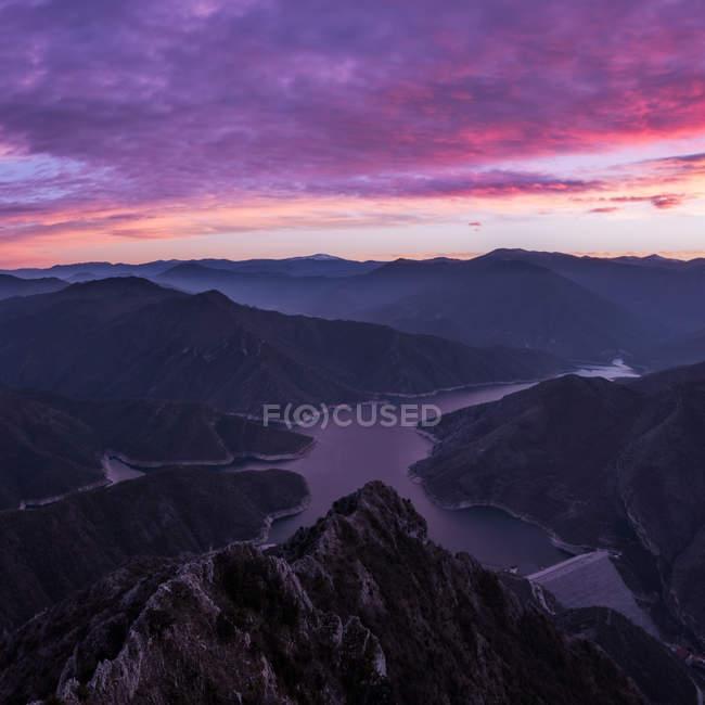 Vista aérea do majestoso Kozjak, Macedônia — Fotografia de Stock