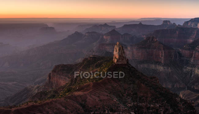 Vista panorâmica do nascer do sol em Point Imperial, Grand Canyon, Arizona, América, EUA — Fotografia de Stock
