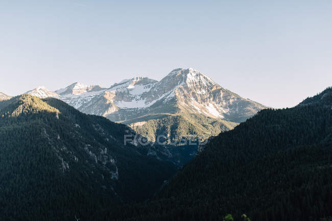 Scenic view of American Fork Canyon, Utah, America, USA — Stock Photo