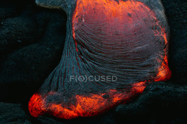 Close-up of Lava Flow on a mountain, Hawaii, America, USA — Stock Photo