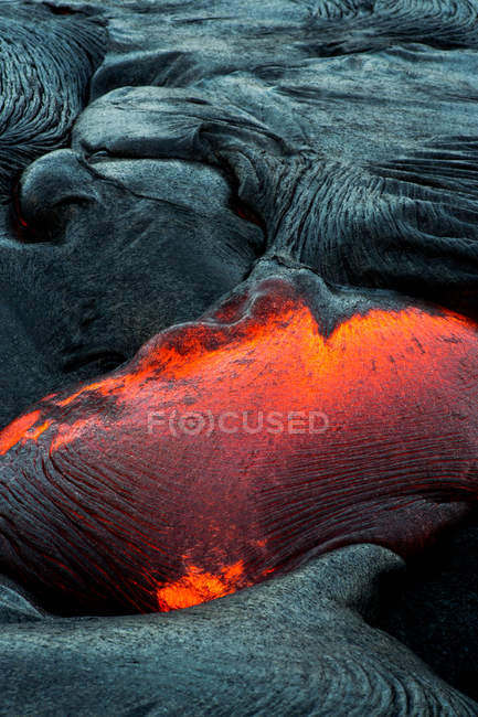 Close-up of a Lava Flow on a mountain, Hawaii, America, USA — Stock Photo