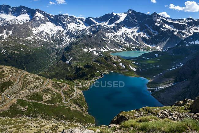 Vue aérienne du lac Nivolet, Val d'Aoste, Italie — Photo de stock