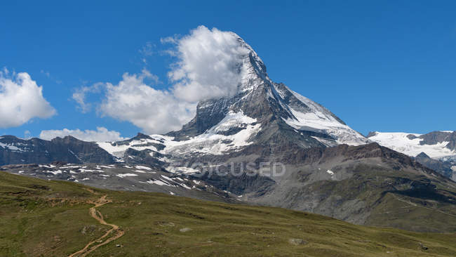 View of Matterhorn from Gornergrat, Switzerland — Stock Photo