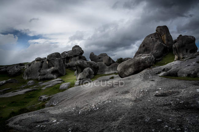 Scenic view of Castle Hill, South Island, New Zealand — Stock Photo