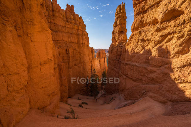 Мальовничий вид на навахо стежки петля, Брайс-Каньйон, Юта, Америка, США — стокове фото