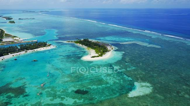 Aerial view of majestic Maldives landscape — Stock Photo