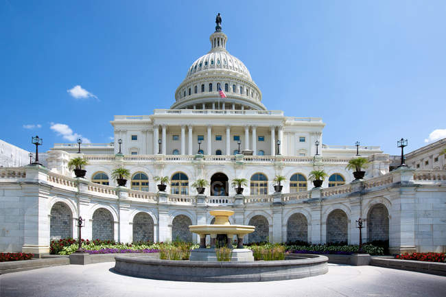 Scenic view of The United States Capitol Hill, National Mall, Washington D.C. — стоковое фото