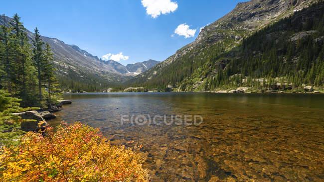 Vista panorâmica do Lago Mills, Rocky Mountain National Park, Colorado, Estados Unidos da América, América — Fotografia de Stock