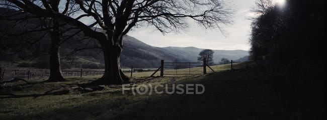 Vista cénico da paisagem rural, Parque Nacional de Brecon Beacons, Powys, Wales, Reino Unido — Fotografia de Stock