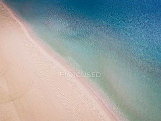 Vista aerea della spiaggia blu, Australia — Foto stock