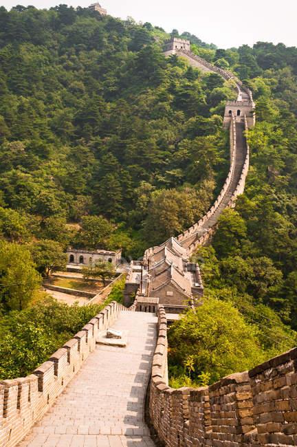 The Great Wall section in Mutianyu, china, near Beijing — Stock Photo