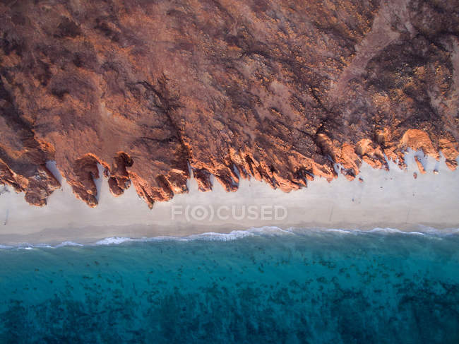 Aerial view of beach, Western Australia, Australia — Stock Photo