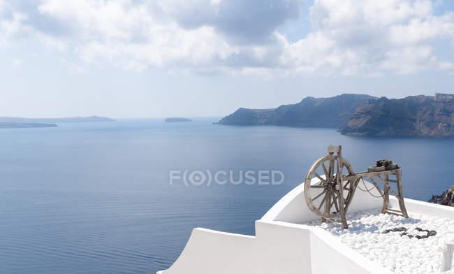 Panoramablick auf das Meer von Oia, Santorini, Griechenland — Stockfoto